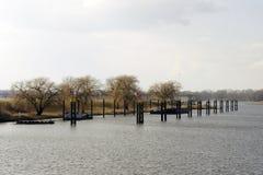 Haven Wittenberge stock afbeeldingen