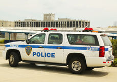 Havenautoriteitpolitie New York New Jersey providin Stock Foto's