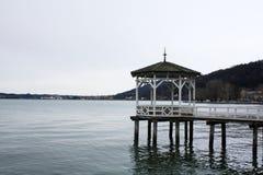 Havenbrug op het meer Bregenz oostenrijk Royalty-vrije Stock Afbeelding