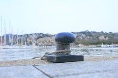 Havendok in Sardinige, Italië stock afbeeldingen