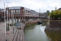 Havengebied in Dusseldorf Royalty-vrije Stock Fotografie