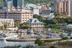 Havenlouis cityscape, Mauritius Stock Foto