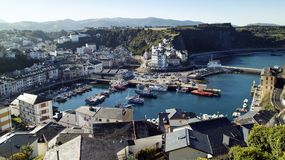Havenmening Luarca, Asturias, Spanje Royalty-vrije Stock Afbeeldingen