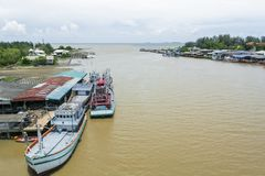 Havens in de Golf van Thailand Royalty-vrije Stock Foto