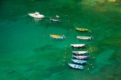 Havenstad Vernazza, Cinque Terre Italy Royalty-vrije Stock Foto's