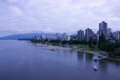 Haventaxi die (veerboot) in dok, Vancouver trekken, BC Royalty-vrije Stock Foto