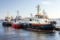 Haventowboats bij de meertros royalty-vrije stock foto