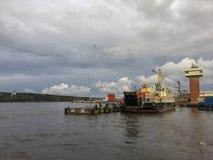 Havenveerboot royalty-vrije stock fotografie
