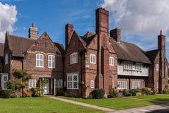 Havenzonlicht Modelvillage houses royalty-vrije stock foto's