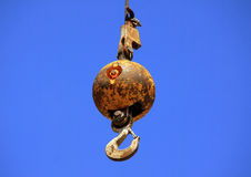 Haverera bollen eller rivningbollen Arkivbilder