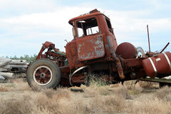 havererad lastbil Arkivbild