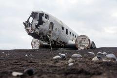 Haveri för Abonded flygplanDC i Island solheimasandur Royaltyfri Fotografi