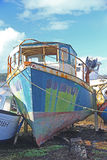 Haverier av fiskebåtar Royaltyfria Foton