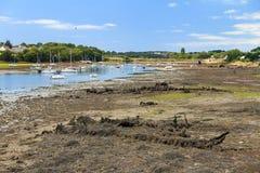 Haverier på lågvatten i Lorient Arkivbild