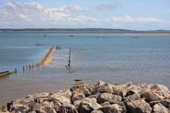 在Haverigg的海岸 库存图片