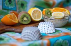 Havermeel met fruit Stock Foto