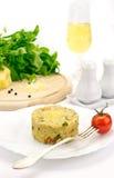 Havermoutpap van graangewassen wordt gemaakt dat Royalty-vrije Stock Foto