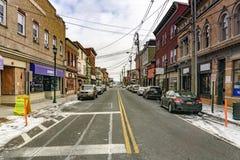 Haverstraw, Estados Unidos de NY/- 21 de janeiro de 2019: Main Street Haverstraw imagem de stock