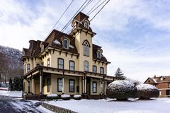 Haverstraw, NY/United States - Jan 21, 2019: House by the Railroad royalty free stock images