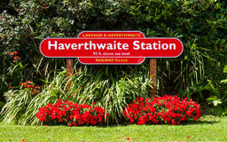Haverthwaite Railway Station Royalty Free Stock Photography
