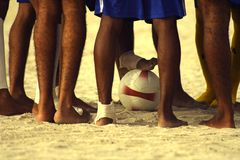 The haves. A soccer team preparing to play a match Royalty Free Stock Photography