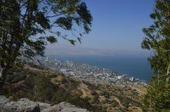 Havet av Galilee och Tiberias Arkivbild