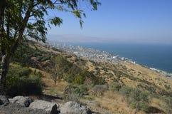 Havet av Galilee och Tiberias Royaltyfri Fotografi