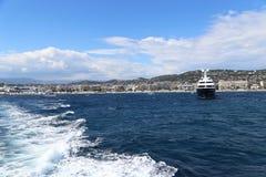 Havet går i Cannes Royaltyfria Foton