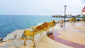 Havet i den blåa himlen, naturbakgrund, tapetdesign royaltyfri foto
