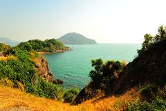 Havet i Thailand, Rayong Royaltyfri Bild