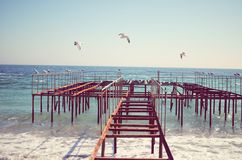 Havet landskap Royaltyfri Foto