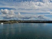 Havet och den härliga stranden i Dana Point CA, USA arkivfoton