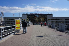 Havet och staden vladivostok Ryssland Royaltyfri Fotografi