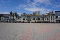 Havet och staden vladivostok Ryssland Arkivbilder