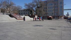 Havet och staden vladivostok Ryssland Royaltyfri Foto