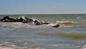 Havet och stenarna Arkivbilder