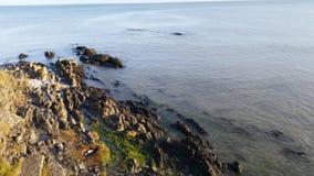 Havet och vaggar Fotografering för Bildbyråer