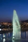Havet parkerar i Palma de Mallorca, på natten Arkivfoton