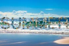 Havet semestrar collage Arkivbilder