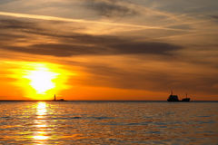 havet skissar Royaltyfri Bild