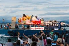 Havet ståtar av den Aomori Nebuta festivalen i Japan Royaltyfria Foton