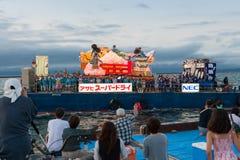 Havet ståtar av den Aomori Nebuta festivalen i Japan Royaltyfri Fotografi