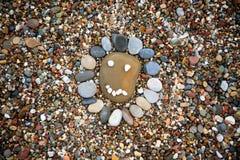Havet stenar bakgrund royaltyfri foto