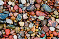 Havet stenar bakgrund Arkivbild