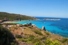 Havet till santa teresa di gallura Royaltyfri Foto