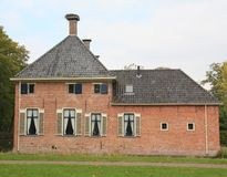 Havezate Mensinge in Roden. Netherlands. Havezate Mensinge from the 14th century in the village Roden. The Netherlands Royalty Free Stock Image
