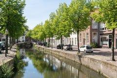 Havik kanal i Amersfoort, Nederländerna Arkivbilder