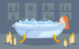 Having a bath Stock Photography
