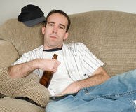 Having A Beer Royalty Free Stock Images