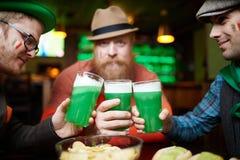 Having beer with crisps Stock Photo